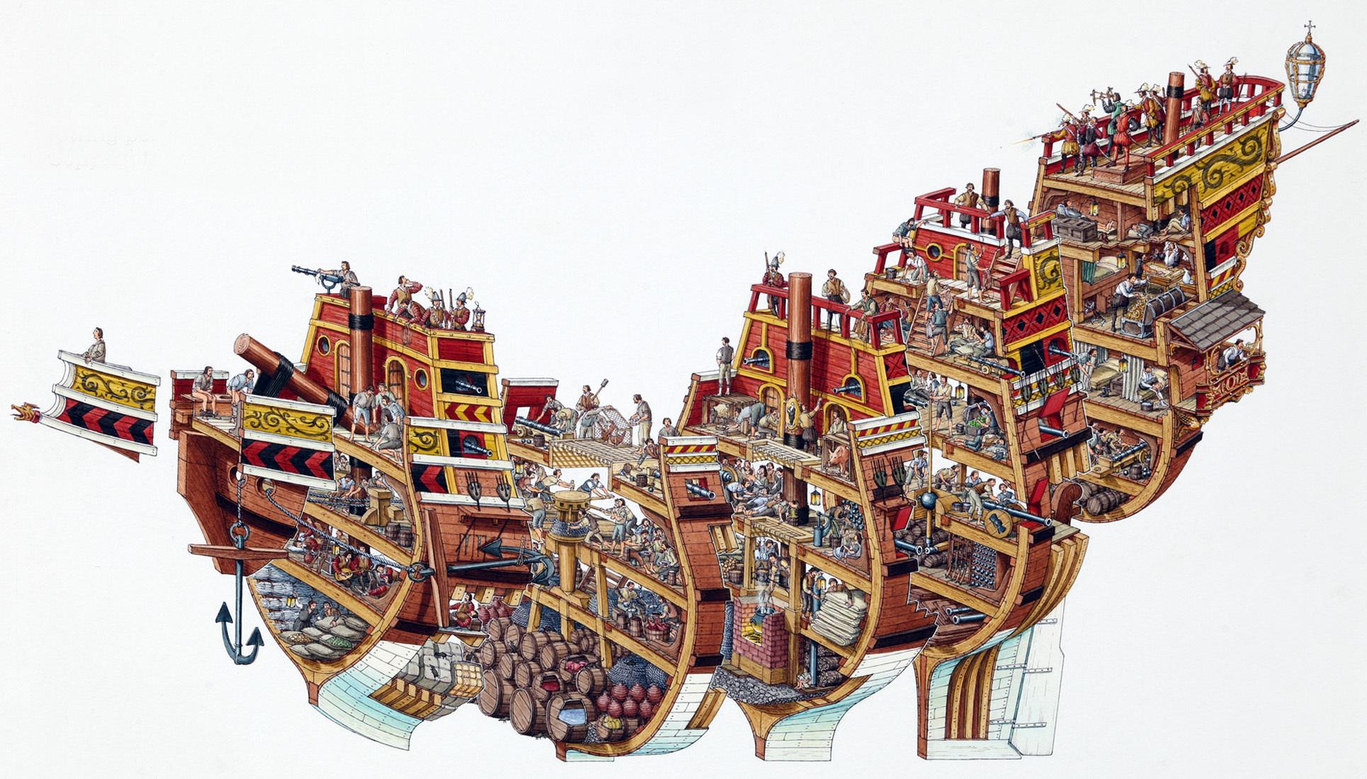 Stephen Biesty Big Galleon