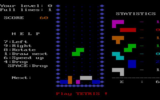Tetris Dos 1986