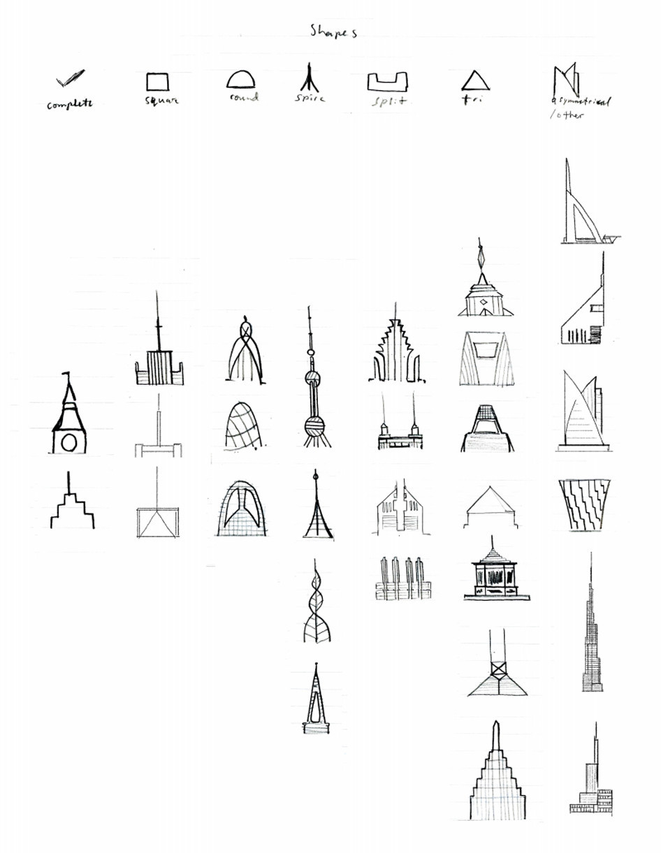 Building Top Sketches