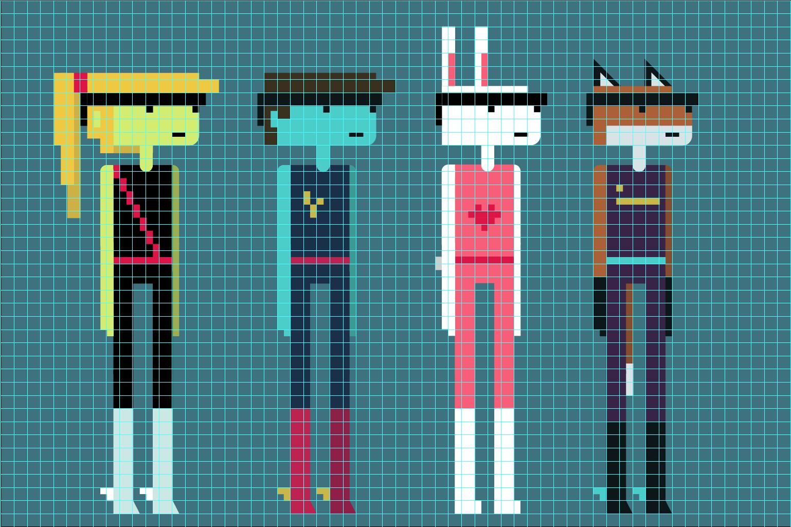 Pixelgrid Characters